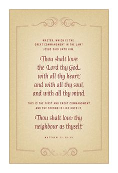 lds poems on the Saviour | The two great commandments…