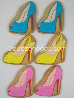 Spring Louboutins, via Flickr. High Heel Cookies, Shoe Cookies, Cut Out Cookies, Birthday Cakes For Women, Cool Birthday Cakes, Girls Weekend, Girls Night, Cookie Box, Cookie Ideas