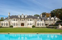 """The incomparable """"Stone Mansion"""", located on Frick Drive in Alpine, New Jersey, has been re-listed yet again. Mega Mansions, Mansions Homes, Luxury Mansions, Double Island Kitchen, Hogwarts, Stone Mansion, Office Images, Luxury Homes Dream Houses, Dream Homes"""