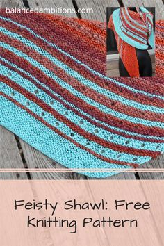 Easy knit shawl pattern for beginners. Can use almost any yarn, any needles, any gauge, no gauge swatch needed. Free knit shawl pattern. Oversize shawl pattern. Knit blogger. Knit pattern designer. Caron Simply Soft yarn knit shawl. Garter stitch shawl. Eyelets. Color changing shawl. Swoop shape shawl. Swoosh-shaped shawl. Knit shawl for mindless knitting. Fast and quick knit. Circular Knitting Needles, Knitting Yarn, Free Knitting, Shawl Patterns, Baby Knitting Patterns, Knit Wrap Pattern, Summer Patterns, Garter Stitch, Knitted Shawls