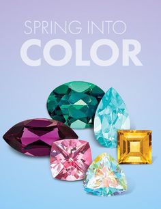 Spring is here and these gemstones are bursting with all the colors of the season! #QualityGold #Jewelry #SpringFashion #GemstoneJewelry #Gemstones #ColoredGemstones Birthstone Jewelry, Gemstone Jewelry, Crazy Colour, Spring Is Here, Gemstone Colors, Peridot, All The Colors, Birthstones, Spring Fashion