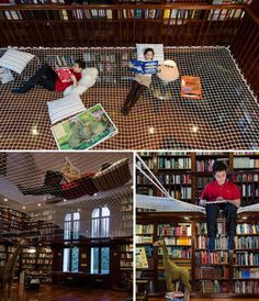 I Must Have One: A Reading Net For Your At-Home Library   Geekologie