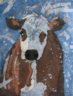 Watercolor Batik by Donna Savage www.artmadnessstudio.com  ORIGINAL SOLD