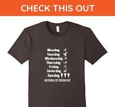Mens National Ice Cream Day Funny Workout T Shirt 3XL Asphalt - Workout shirts (*Amazon Partner-Link)