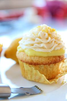 » Martha Stewart's Lemon Cupcakes with Lemon Buttercream Frosting » Say it with Sprinkles - A Blog About Baking & Sprinkles