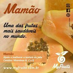 Responsável pela firmeza e sustentação da pele, muito saudável para cabelo.  Curta nosso Facebook: https://facebook.com/myfruitsoficial/  Curta nosso Pinterest: https://www.pinterest.com/myfruitsoficial/  #compartilhe #myfruits #myfruitsoficial #frutas #vitamina #mamão #vidasaudavel #ComerFrutasFazBem #habitosaudavel #bemestar #saude #viverbem #projetovida #vida