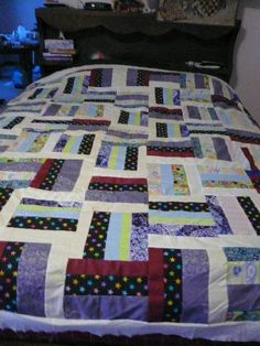 rail fence vintage quilt top by sweetRdays on Etsy, $75.00