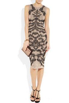 ALEXANDER MCQUEEN  Lace-effect fine-knit dress  $1,395