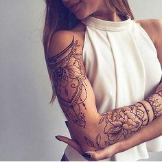 awesome Friend Tattoos - Cute henna lace arm tattoo ideas you should try 02 Great Tattoos, Trendy Tattoos, Beautiful Tattoos, Body Art Tattoos, Tattoo Drawings, Memory Tattoos, Hand Tattoos, Feminine Tattoos, Spouse Tattoos
