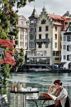 Lucerne, Switzerland - have been fortunate enough to be to this coffee shop too :-)