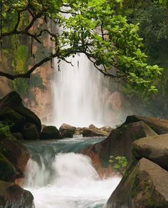 The waterfalls are simply breathtaking here in Costa Rica.  You can spend a day going from waterfall to waterfall.