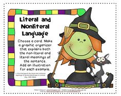 Literal and Nonliteral Language -- Halloween Freebie! -repinned by @PediaStaff – Please Visit ht.ly/63sNtfor all our pediatric therapy pins