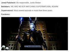 Hahahaha I love the Supernatural fandom so much. Everyone's insane but that's part of their charm
