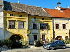 Mooslechners Rusterhof Restaurant, Rust, Austria Yellow Houses, Architectural Features, Rooftops, Austria, Places Ive Been, Rust, Exterior, Restaurant, Adventure