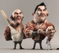 best 3d character 3dsmax zbrush vray