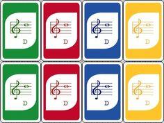 MUSIC: AN UNO-INSPIRED TREBLE CLEF CARD GAME - TeachersPayTeachers.com