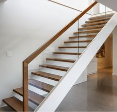 L-shape Modern design america style new  solid wood staircase  ST005