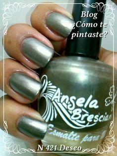 Colección Otoño-Invierno Angela Bresciano #swatches #nails #uñas #comotepintaste #esmaltes #polish #grey #gris #angelabresciano