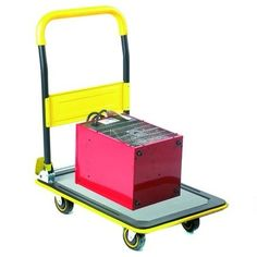 Plastic Platform Double Dolly Trolley Cart 800x600mm Warehouse Mover