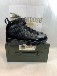 low priced b5746 d2ae7 NIKE AIR JORDAN IX RETRO 9 BRED BLACK RED BASKETBALL SHOE 302370-014 MEN  SIZE