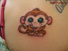 Baby Monkey Tattoo coz this is the same face ryley has when he is being cheeky lol Monkey Tattoos, Baby Tattoos, New Tattoos, I Tattoo, Tatoos, Cute Foot Tattoos, Unique Tattoos, Beautiful Tattoos, Tattoos With Kids Names