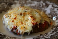 Breaded, fried then baked eggplant parm... mmmmm...