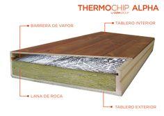 THERMOCHIP® ALPHA potencia el aislamiento gracias a la lana de roca.