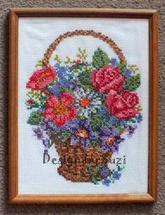 Basket with wild flowers