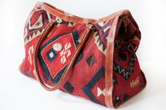 Geometric Folklore Aztec Style Coin Purse Buckle Vintage PU Pouch Kiss-lock Wallet for Women Girl