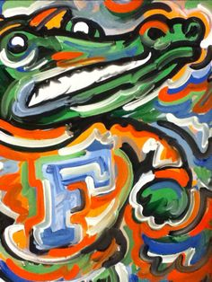 Florida Gators Painting by Justin Patten