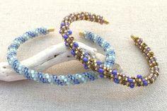 Tubular Peyote Beaded Cuff bracelets - Lisa Yang
