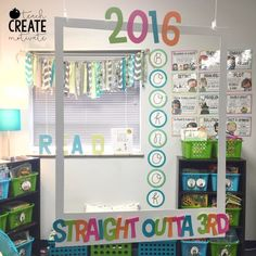 Photo booth ready! Change out the words to fit the celebration. Post the pics with Flip-o-gram. Fun!