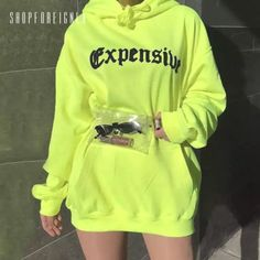 Sampic women print oversize casual neon hoodies sweatshirts loose long sleeve hoodies autumn 2019 - - Source by Neon Outfits, Teen Fashion Outfits, Swag Outfits, Mode Outfits, Trendy Outfits, Tomboy Outfits, Fresh Outfits, Punk Fashion, Lolita Fashion