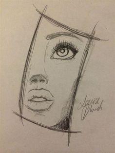 Louise Blunch | Art Drawings Sketches Simple, Art Drawings