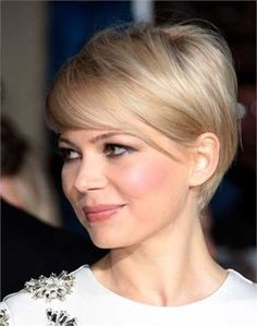 Short Haircut with Side Swept Bangs - Women Short Hairstyles for Thin Hair
