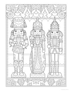 Christmas Makes, Noel Christmas, Christmas Colors, Christmas Crafts, Free Adult Coloring Pages, Coloring Book Pages, Printable Coloring Pages, Christmas Coloring Sheets, Illustration Noel