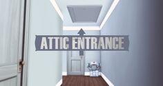 Attic Entrance Door at Onyx Sims via Sims 4 Updates