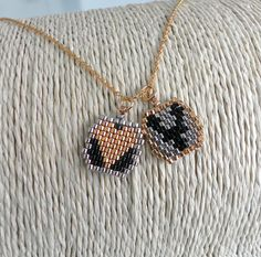 Handmade Beadwork Personalized Initial letter Charm by LiBeadi