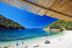 Swim in the cool, clear water off Korcula's beaches - or just sit in the sun