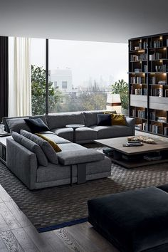 45 Awesome Modern Apartment Living Room Design Ideas 45 Awesome Modern Apartment Wohnzimmer Design-I Dark Living Rooms, Living Room Modern, Home Living Room, Apartment Living, Interior Design Living Room, Living Room Decor, Cozy Living, Small Living, Modern Couch