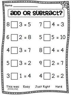 10 First Grade Math Worksheets First Grade Math Unit 8 Balancing Equations Choosing an Operation and more in First Grade Math Worksheets, School Worksheets, 1st Grade Math, Kindergarten Math, Teaching Math, Math Teacher, Maths, Teaching Resources, Math Games