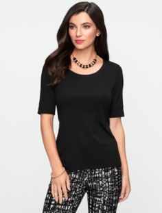 Talbots - Elbow-Sleeve Tee  | Tees and Knits | Misses
