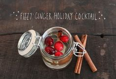 Recipe: Fizzy Ginger Holiday Cocktail