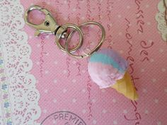 Hey, I found this really awesome Etsy listing at https://www.etsy.com/listing/189972975/miniature-food-keychain-rainbow-sherbert