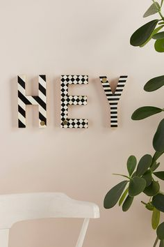 Darcy Monogram Letter by Anthropologie in, Wall Decor Home Decor Styles, Home Decor Accessories, Diy Home Decor, Decor Room, Party Accessories, Art Decor, Bedroom Decor, Monogram Wall Letters, Diy Letters