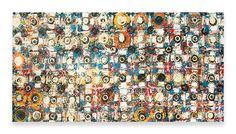 FUNKY TILE FLOOR     48″ x 96″ Mixed Media on Wood  $1250