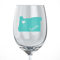 Oregon Home Wine Glass. Our Handmade State Wine Glasses make perfect gifts for any occasion. This personalized wine glass features the state of Oklahoma. Show your love for your home state. Price is for one wine glass. Decals are permanent vinyl adhesives, but can lift over time if not cared for properly. To wash, hand wash and air dry. Do not put in dishwasher as heat will make the vinyl adhesive weak and it can peel off. All of our items are made in a smoke-free home, with quality...
