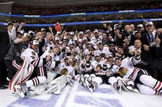 A great picture encompassing the entire 2010 team shortly after they won the Stanley Cup. Although it isn't an advertisement, it still helps promote awareness and brand loyalty towards the Blackhawks because it shows their comradery and great attitude.