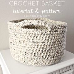 How To Crochet Baskets - Free Pattern and Tutorial