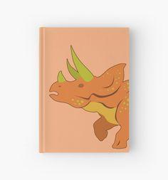 Triceratops Hardcover Journal #dinosaurs #jurassic #triceratops #orange #extinct